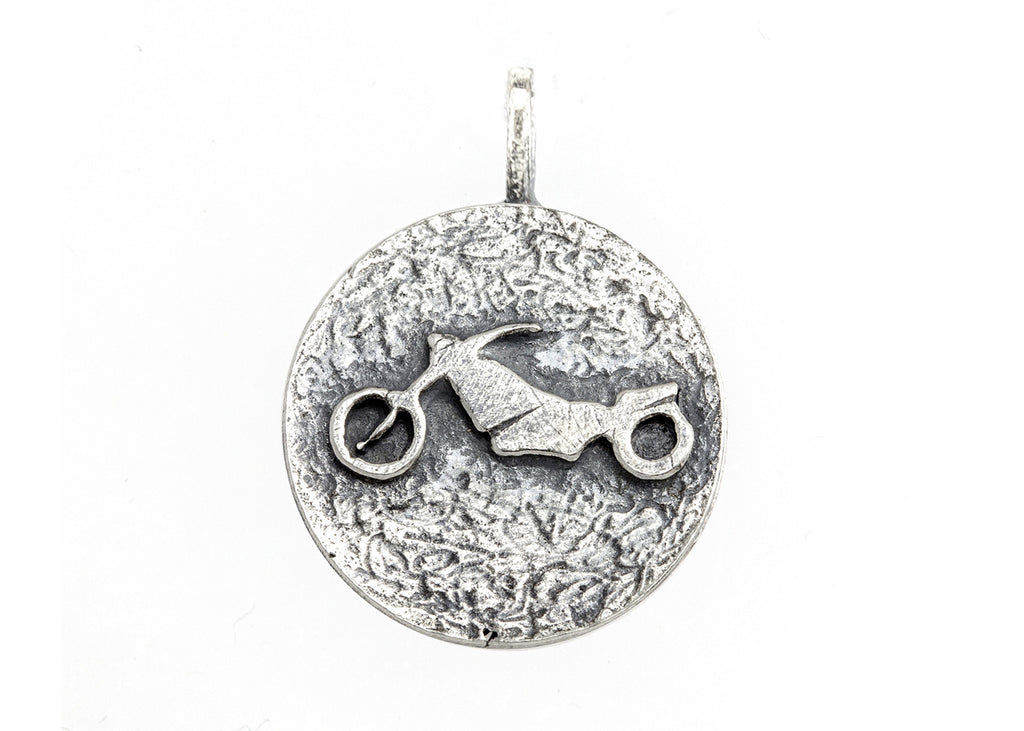 Motorbike Adventure Medallion Necklace