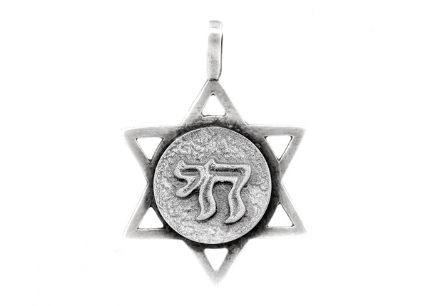 Star of David with Chai Medallion