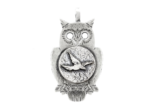 Bird Flying Medallion Necklace