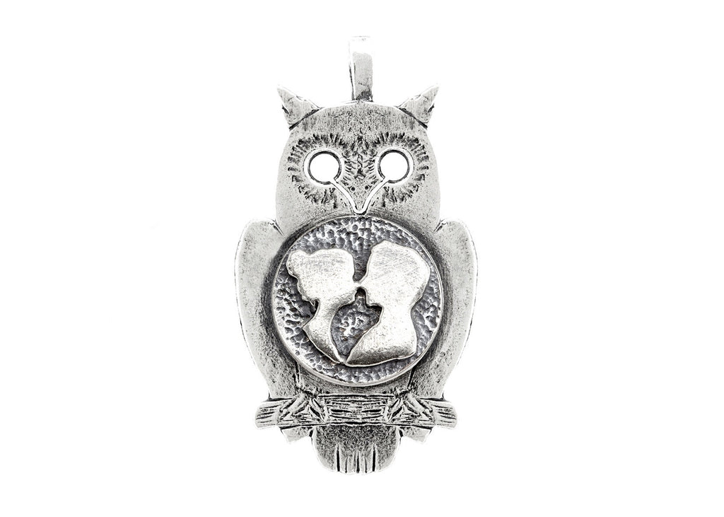 Owl with Coin Medallion with Couplel