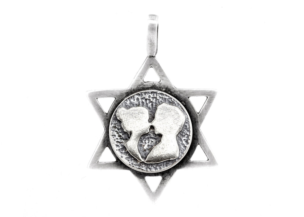 Star of David with Couple Medallion