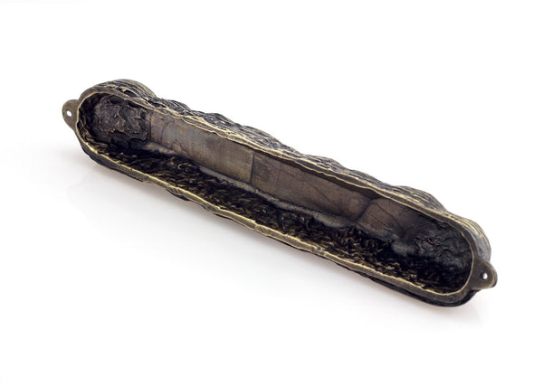 Mezuzah with Bright Symbols & Blessings in Bronze - Big (16cm)