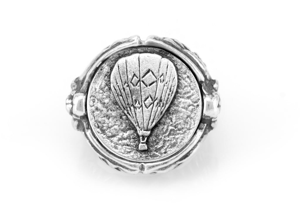 coin ring with the Hot Air Balloon medallion on Nike ring
