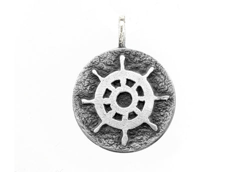 Necklace with Wheel Medallion