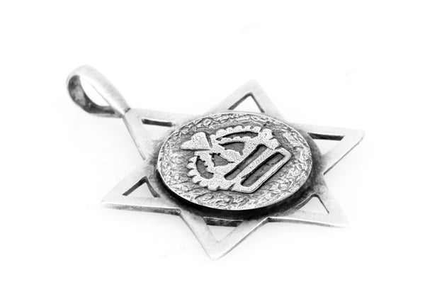 Star of David with  Crown Medallion