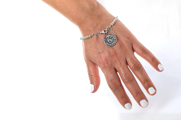 Scorpio medallion with a Bead Bracelet -Zodiac jewelry -One of kind jewelry
