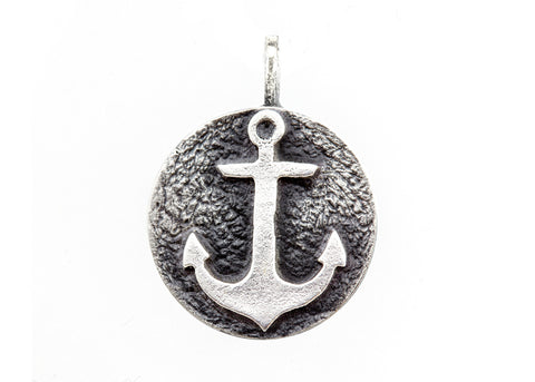 Necklace with Anchor Coin Medallion