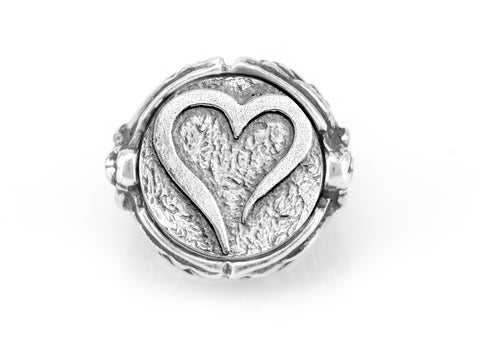 coin ring with the Open heart medallion on Nike ring