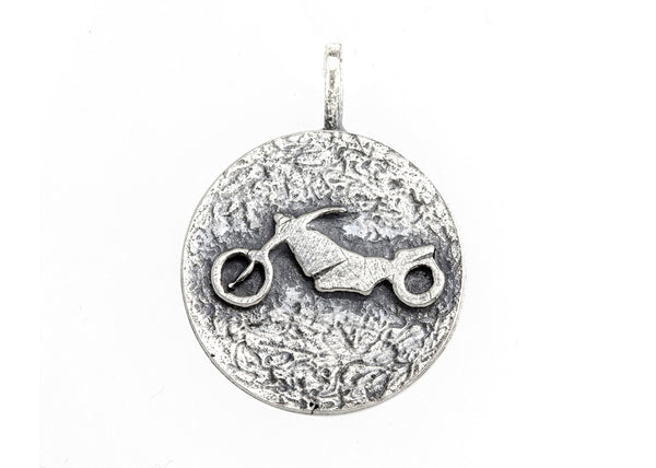 medallion necklace with the Motorbike medallion