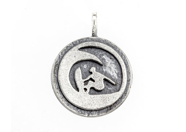 medallion necklace with the Surfer medallion