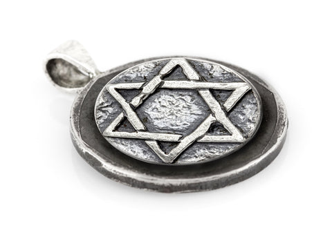 Star of David coin medallion and the Buffalo Nickel coin of USA