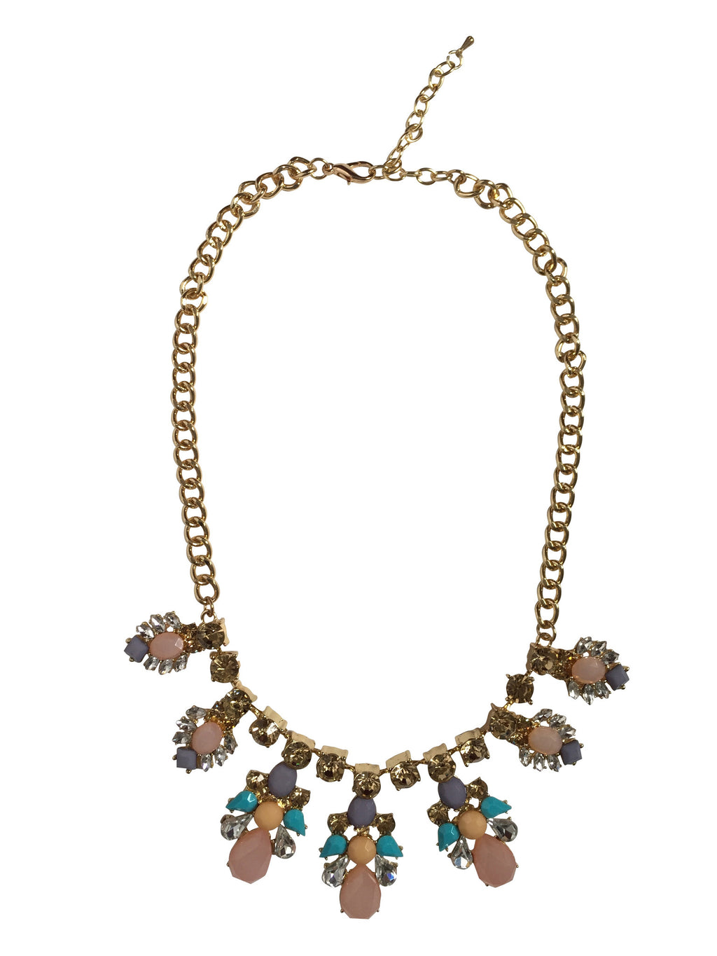 Golden Peach Statment Necklace