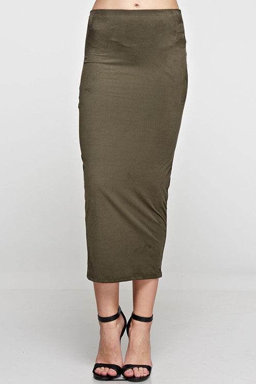 Olive Green Pencil Skirt