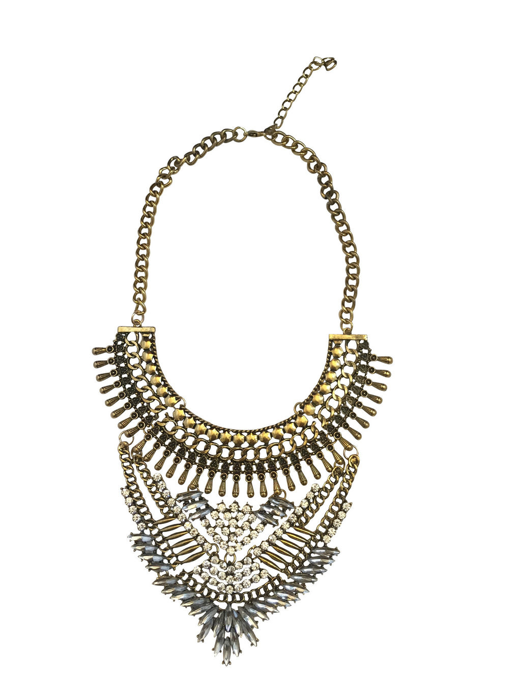 Azteck Gold Statement Necklace