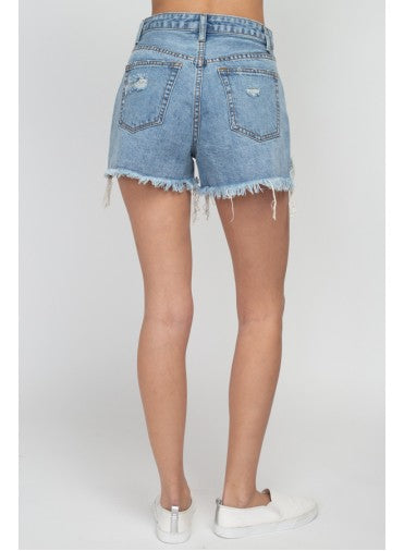 'Mina' Distressed Demin Short