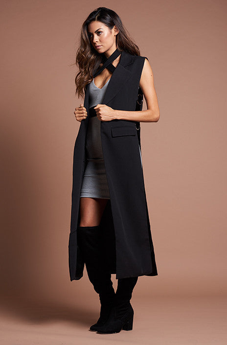 Jet Black Premonition Trench