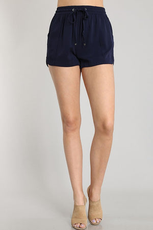 Navy Blue Drawstring Short