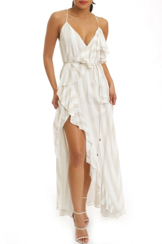 Vacation Days Stripe Maxi Dress