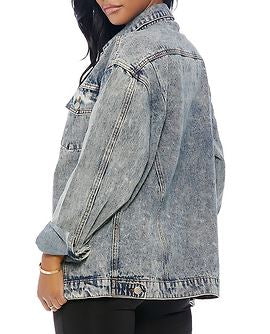 'Zac Morris' 80s Mineral Washed Over-sided Denim Jacket