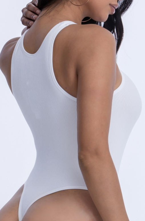 'Linda' Basic Ribbed Bodysuit