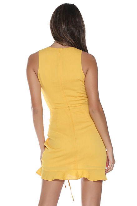 ' Lola' Yellow Mini Dress