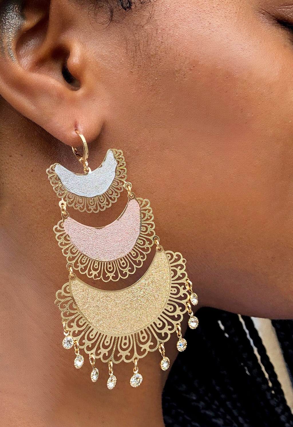 Hera Gold Plated Chandelier Earring