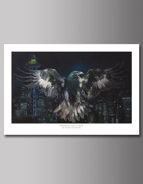 Emerald City Hawk Limited Signed Prints