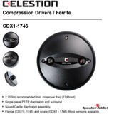 HT1-1746 Celestion CDX1-1746 Compression driver + 6.5 inch shallow Horn Tweeter