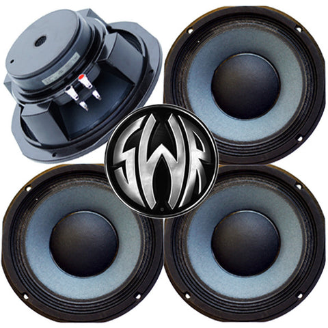 "CYBER SPECIAL 4 pack 10"" 8 or 16 Ohm Eminence SWR Goliath Bass Guitar Speakers - Made in USA"