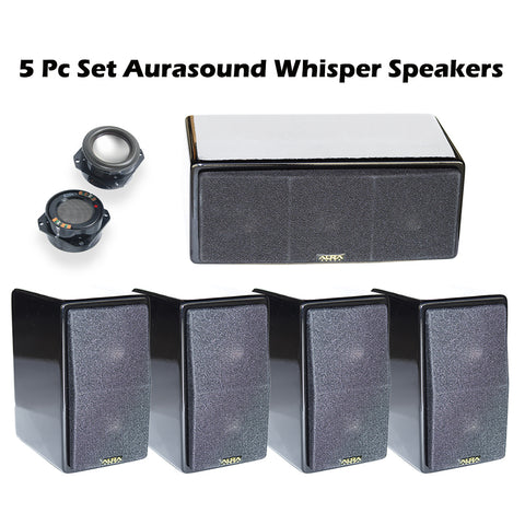 5Pc AuraSound Whisper Mini 5.1 Surround Sound Home Theater Satellite Speakers