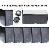 7Pc AuraSound Whisper Mini 7.1 Surround Sound Home Theater Satellite Speakers