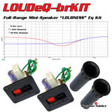 LOUDeQ Equalizer Full Range Mini Speaker Near Field monitor Flared port tube KIT