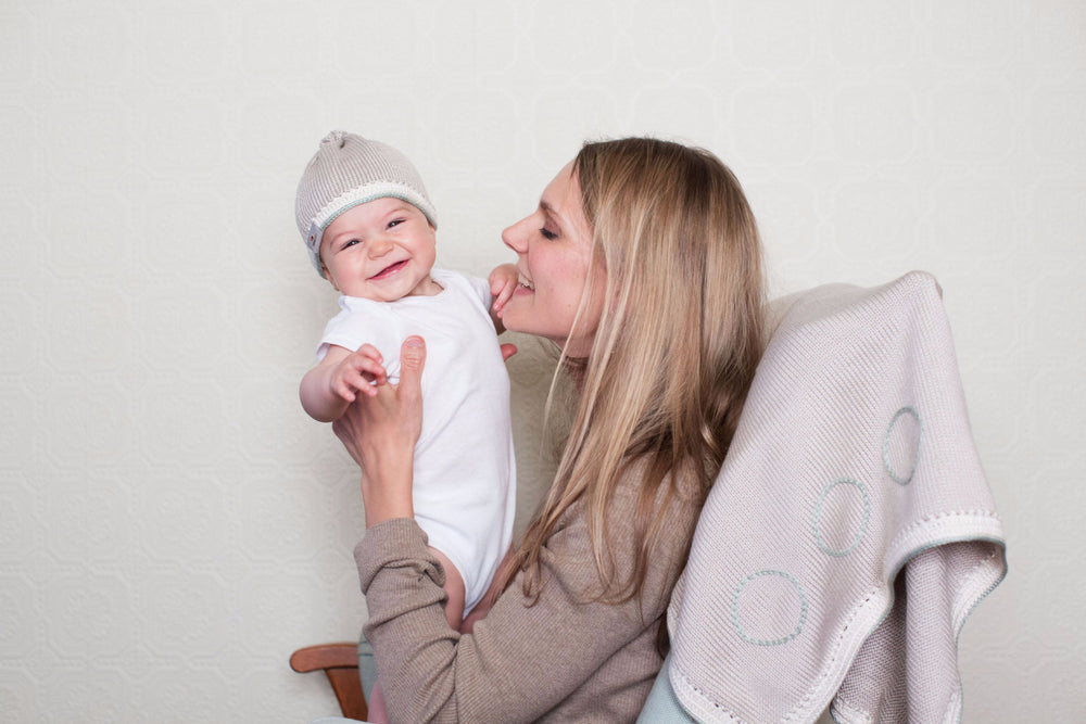 Signature Baby Hat: Taupe Sage - Haiti Babi - Artisan Baby Products, Handmade By Moms In Haiti.