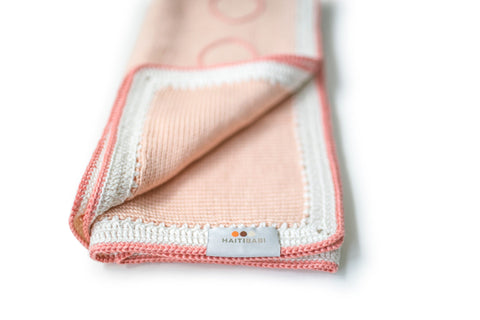 Tranquility Baby Blanket: Peach
