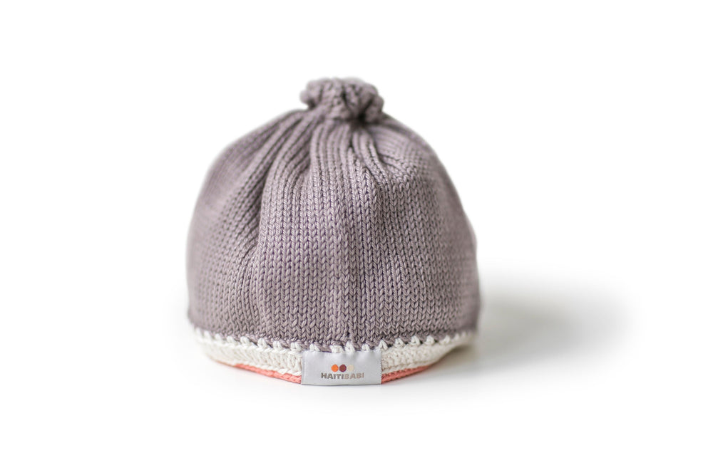 Tranquility Baby Hat: Mauve - Haiti Babi - Artisan Baby Products, Handmade By Moms In Haiti.