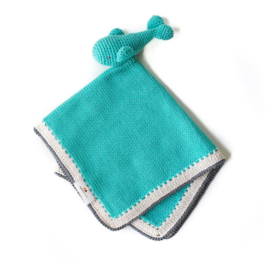 Whale Baby Lovie: Teal - Haiti Babi - Artisan Baby Products, Handmade By Moms In Haiti.