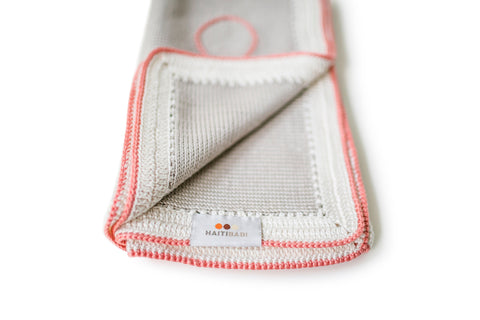 Signature Blanket: Taupe Coral - Haiti Babi - Artisan Baby Products, Handmade By Moms In Haiti.