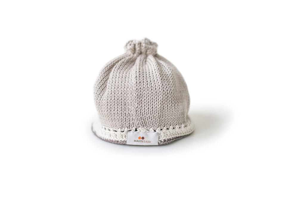 Signature Baby Hat: Taupe Mauve - Haiti Babi - Artisan Baby Products, Handmade By Moms In Haiti.