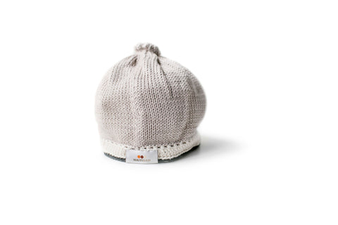 Signature Baby Hat: Taupe Black