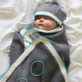 Signature Set: Stone Teal - Haiti Babi - Artisan Baby Products, Handmade By Moms In Haiti.