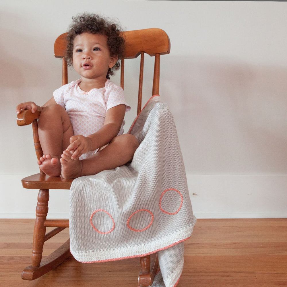 Signature Baby Blanket: Taupe Coral - Haiti Babi - Artisan Baby Products, Handmade By Moms In Haiti.