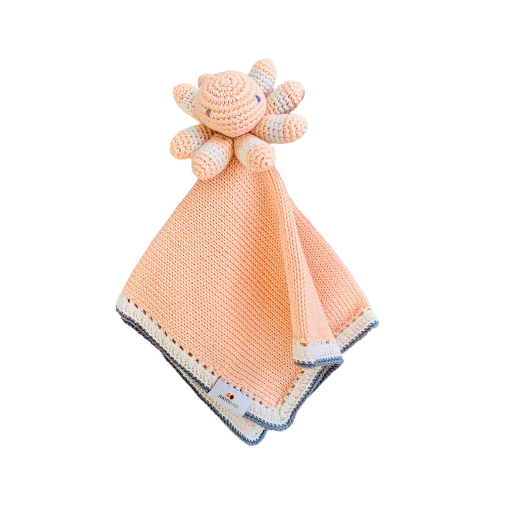 Tranquility Lovie: White Peach Stone - Haiti Babi - Artisan Baby Products, Handmade By Moms In Haiti.