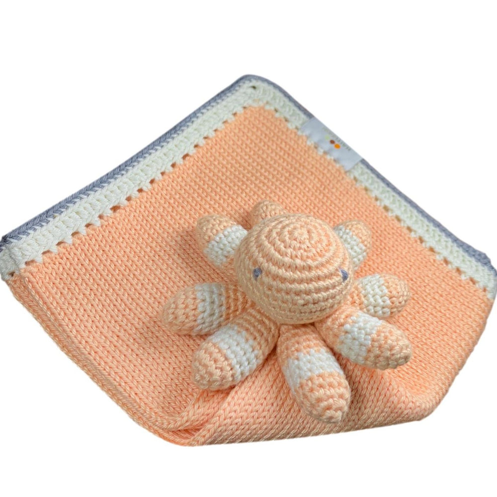 Tranquility White Peach Lovie: Haiti Babi - Artisan Baby Products, Handmade By Moms In Haiti.