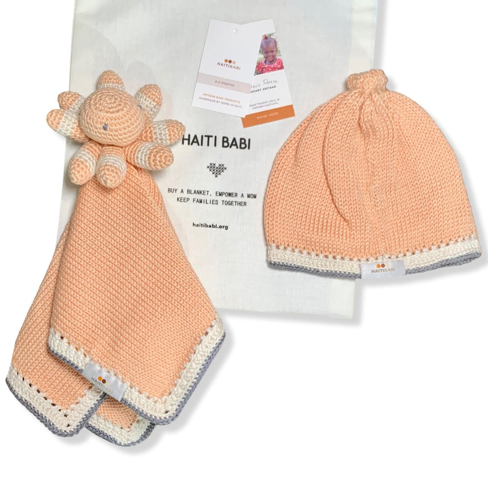 Tranquility Love: White Peach Stone - Haiti Babi - Artisan Baby Products, Handmade By Moms In Haiti.