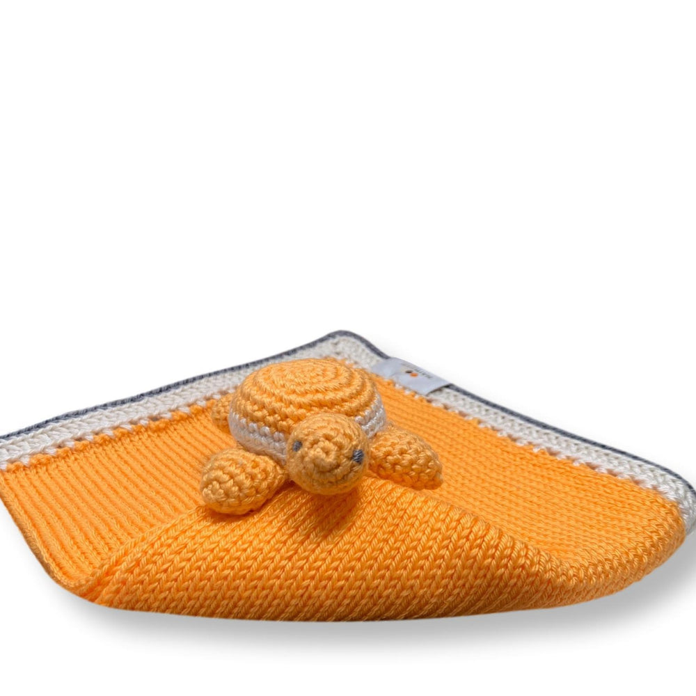 Turtle Baby Lovie: Papaya Stone - Haiti Babi - Artisan Baby Products, Handmade By Moms In Haiti