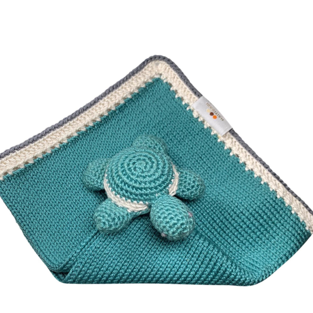 Turtle Baby Lovie: Sea Foam Stone - Haiti Babi - Artisan Baby Products, Handmade By Moms In Haiti.