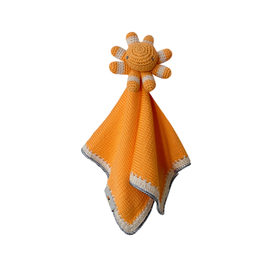 Octopus Baby Lovie: Papaya Stone - Haiti Babi - Artisan Baby Products, Handmade By Moms In Haiti.