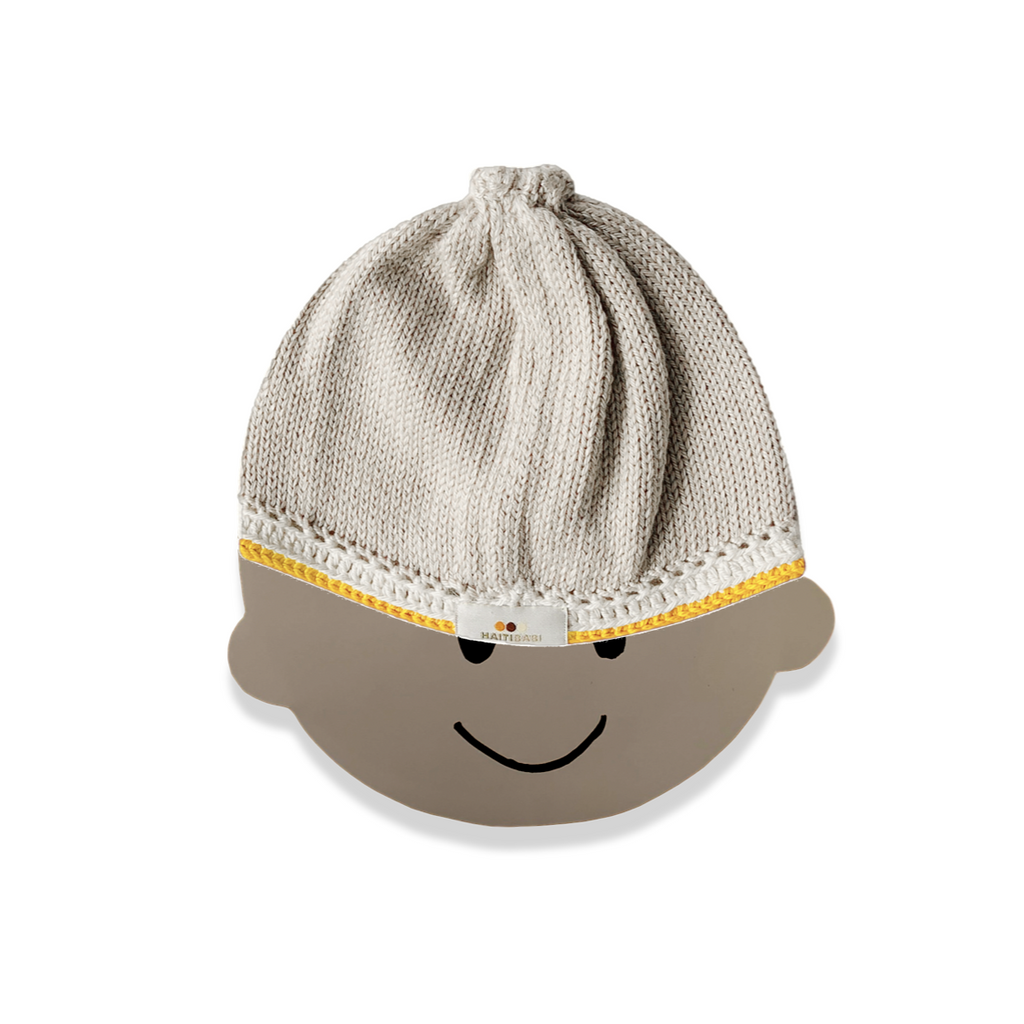 Signature Baby Hat: Pebble Mustard - Haiti Babi - Artisan Baby Products, Handmade By Moms In Haiti.