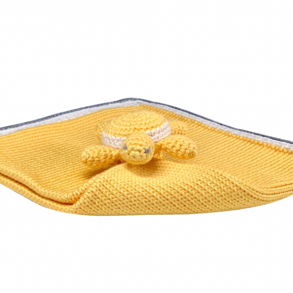 Turtle Baby Lovie: Pineapple - Haiti Babi - Artisan Baby Products, Handmade By Moms In Haiti.