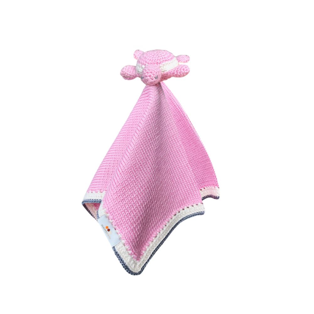 Turtle Baby Lovie: Pink - Haiti Babi - Artisan Baby Products, Handmade By Moms In Haiti.